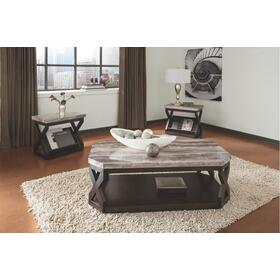 Radilyn Occasional Table Set (3/CN) Grayish Brown