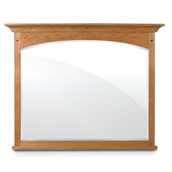 See Details - Royal Mission Dresser Mirror with Walnut Inlay, 42'w x 44'h