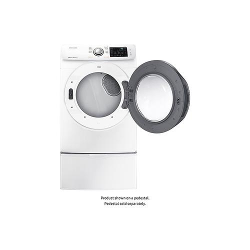 Samsung - 7.5 cu. ft. Electric Dryer with Steam in White