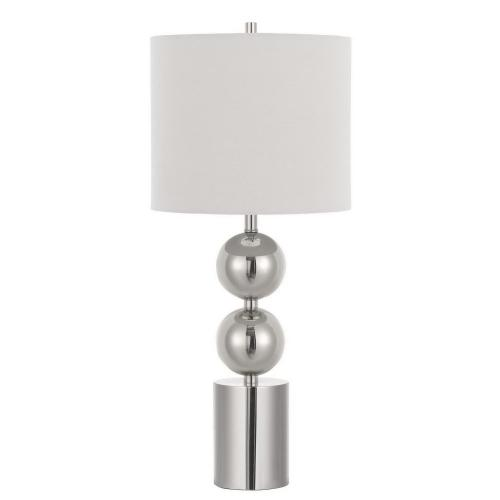 150W 3 Way Lucena Metal Table Lamp With Fabric Shade