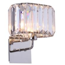 See Details - Athena 11-inch Wall Sconce - Nickel / Clear