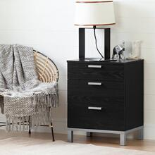 Nightstand Charging Station - Black Oak