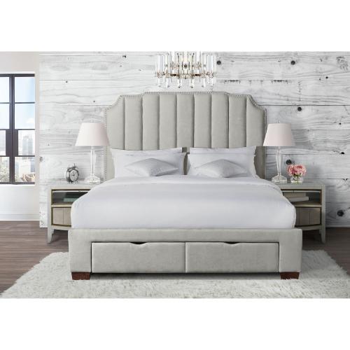Elements - Harper King Upholstered Storage Bed