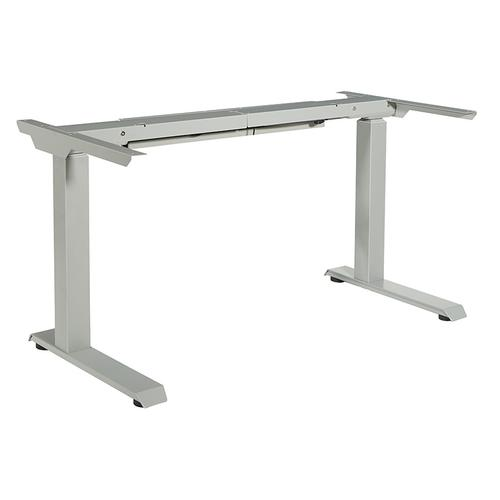 Office Star - 3-stage / 2-motor / 2-leg Electric Height-adjustable Base With Memory Handset, Silver