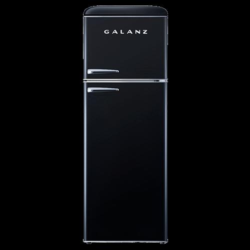 Galanz 12 Cu Ft Retro Top Mount Refrigerator in Vinyl Black