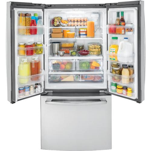 GE 18.6 Cu. Ft. Counter-Depth French-Door Refrigerator Stainless Steel - GWE19JSLSS