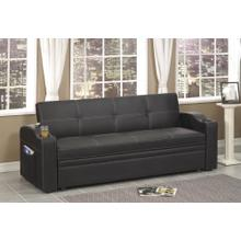 See Details - Black Sofa Bed With Cup Holder's