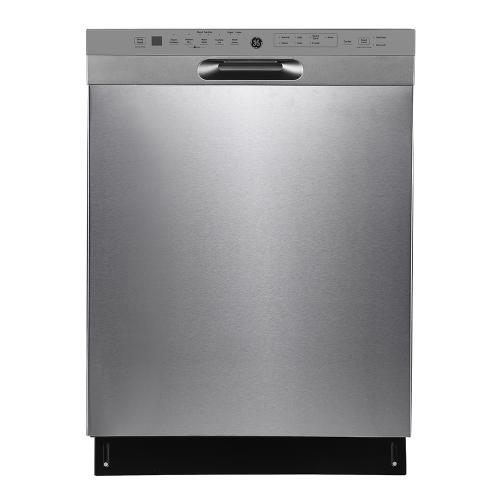 "GE 24"" Built-In Front Control Dishwasher with Stainless Steel Tall Tub Stainless Steel - GBF655SSPSS"