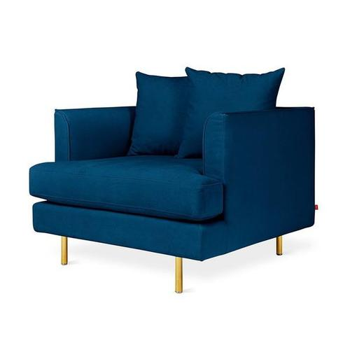 Margot Chair Velvet Midnight / Brass