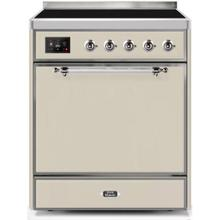 See Details - Majestic II 30 Inch Electric Freestanding Range in Antique White with Chrome Trim