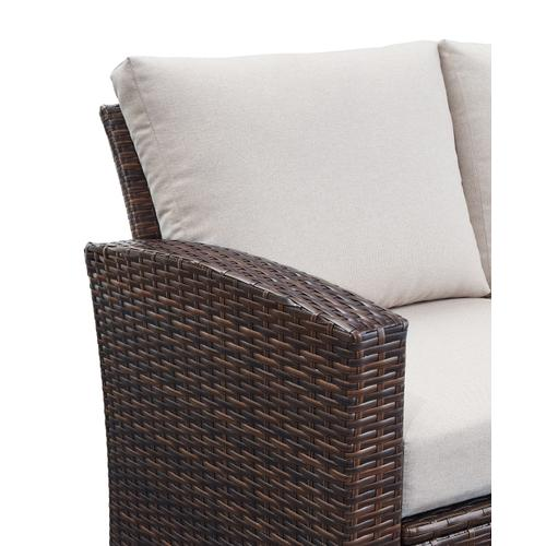 East Brook Outdoor Loveseat With Table (set of 2)