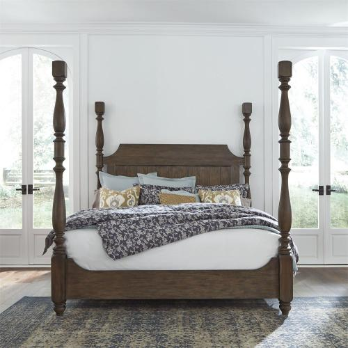 King California Poster Bed, Dresser & Mirror, N/S