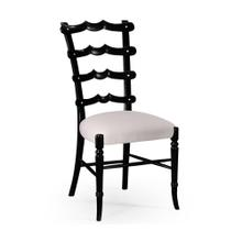 """Yoke"" ladderback side chair black"