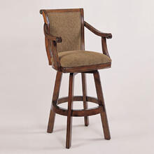"Brandon ""Warm Cherry"" Swivel Bar Stool, 30"" Seat Height"