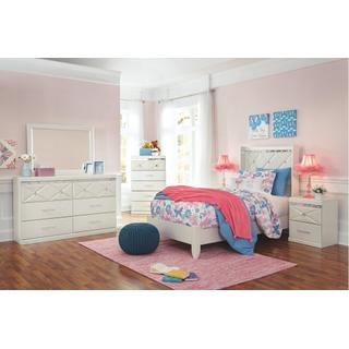 See Details - Twin Panel Bed With Mirrored Dresser