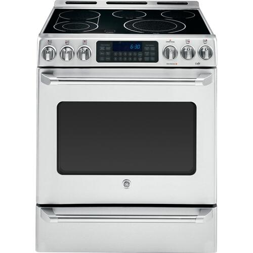 """GE Cafe - GE Cafe™ Series 30"""" Slide-In Front Control Convection Range with Baking Drawer"""