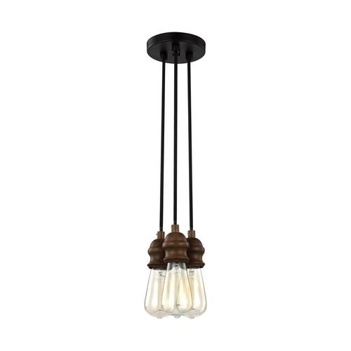 3 - Light Multi-Port Canopy with Swag Hooks Oil Rubbed Bronze
