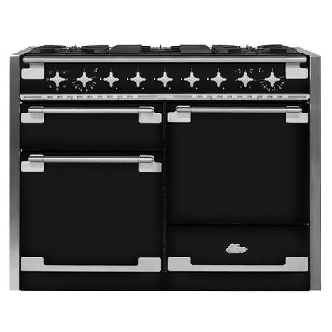 AGAAga Elise 48 Dual Fuel Gloss Black With Chrome Trim
