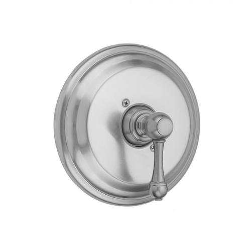 Tristan Brass - Round Step Plate With Majesty Lever Trim For Pressure Balance Cycling Valve (J-CSV)