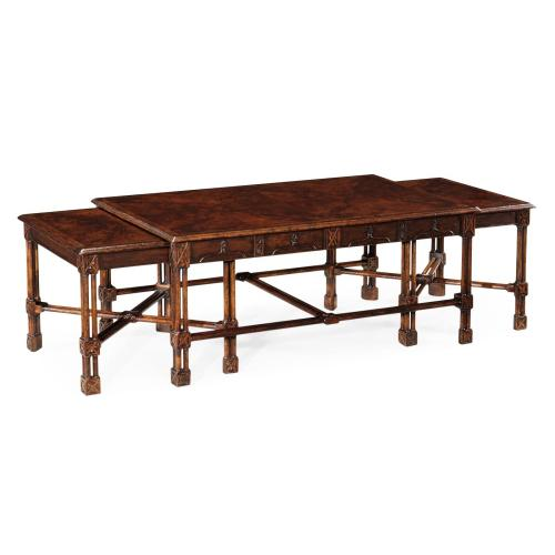 Chippendale gothic nesting tables