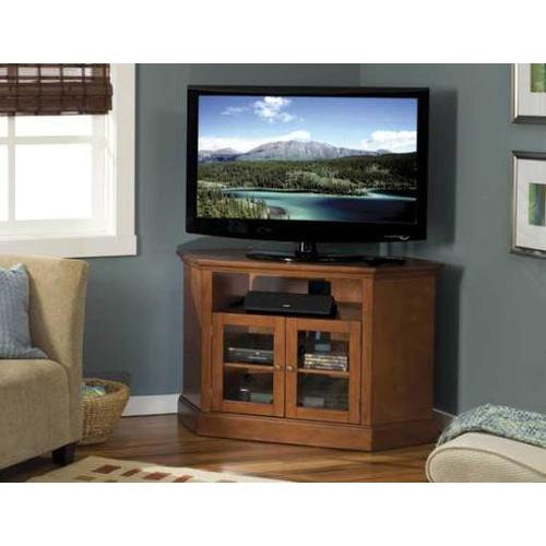 """Product Image - Chestnut Audio Video Stand Corner unit - fits AV components and TVs up to 52"""""""
