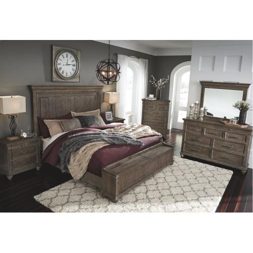 Johnelle King Panel Bed With Storage Bench