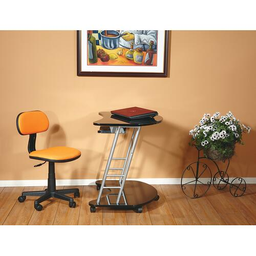 Student Task Chair In Orange Fabric