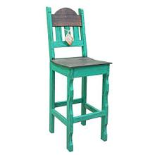 "Aqua Scrape 30""stool Wood Seat"