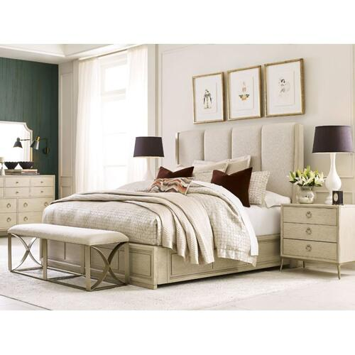 Siena Queen Upholstered Bed - Complete