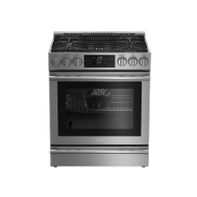 "30"" Stainless Steel Slide-In Dual Fuel Range"