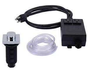 """Square """"Deluxe"""" Raised Waste Disposer Air Switch with Freedom Mount Product Image"""