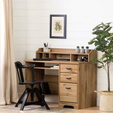 Computer Office Desk with Hutch - Nordik Oak