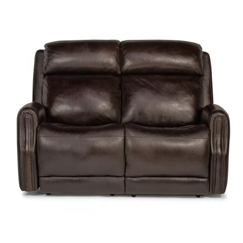 Stanley Power Reclining Loveseat with Power Headrests