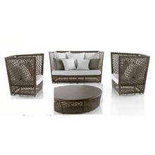 Maldives 4 PC Seating Set w/off-white cushions