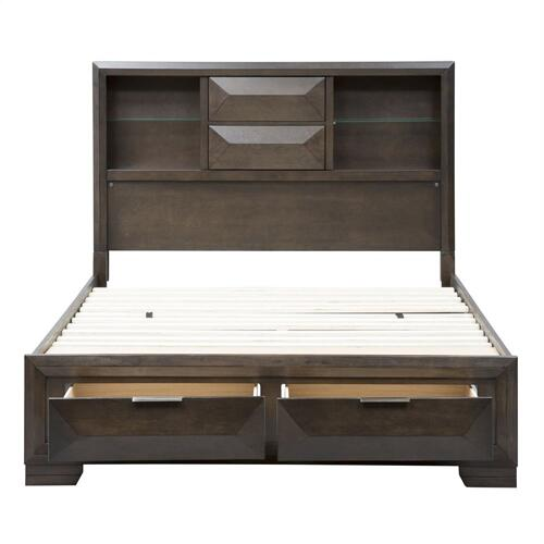 King California Storage Bed, Dresser & Mirror, Chest