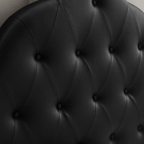 Sovereign Queen Upholstered Vinyl Headboard in Black