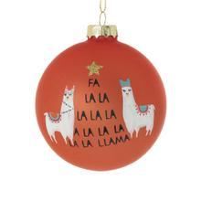 "3"" Orange Fa La Llama Ornament (Llamas Option)"
