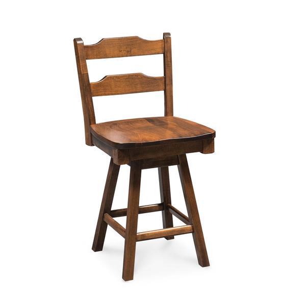"Rachel Swivel Barstool, 24""h, Fabric Seat"