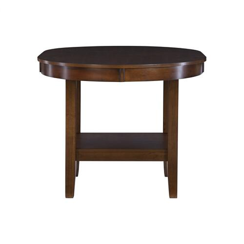 One Shelf and 12-inch Removable Drop Leaf Dining Table, Walnut