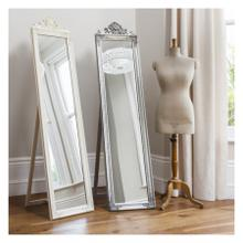 GA Lambeth Wood Cheval Mirror White