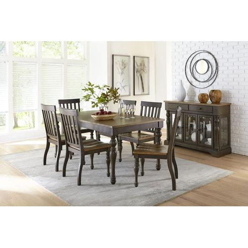 Standard Furniture - Dunmore Dining Table, Light Toffee Top with Brown Base