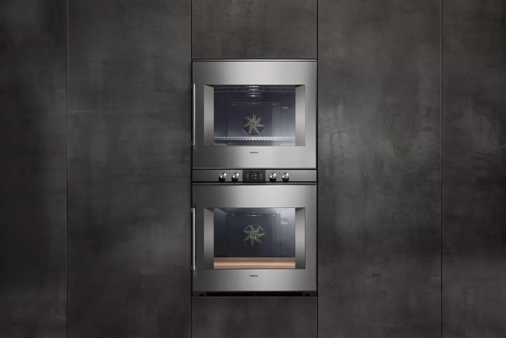 400 Series Double Oven 30'' Door Hinge: Right, Door Hinge: Right, Stainless Steel Behind Glass Photo #3