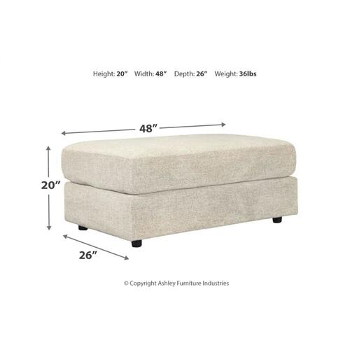 Soletren Oversized Accent Ottoman Stone