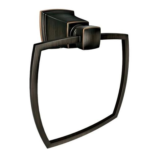 Boardwalk mediterranean bronze towel ring