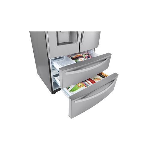LG - 28 cu ft. Smart Double Freezer Refrigerator with Craft Ice™