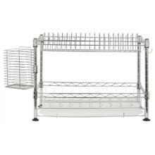 See Details - Darina Adjustable Chrome Wire Dish Rack - Chrome