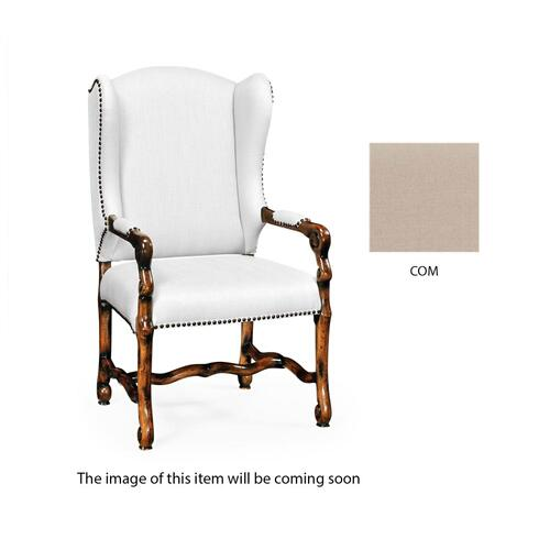 Upholstered armchair in Rustic Walnut (COM)