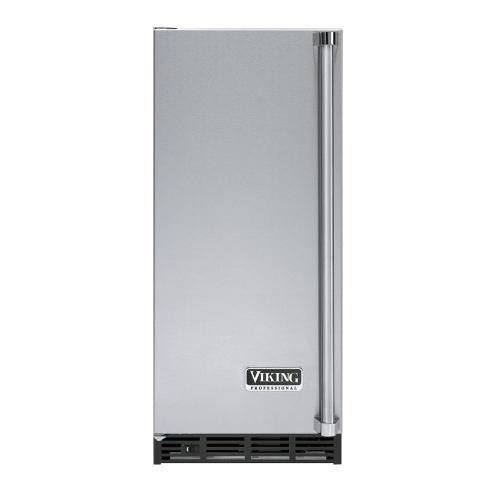 """Viking - Stainless Steel 15"""" Undercounter/Freestanding Tall Door Ice Machine - VUIM (Left Door Hinge)"""