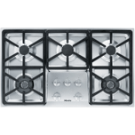 MieleKM 3474 G - Gas cooktop with 2 dual wok burners for particularly versatile cooking convenience.