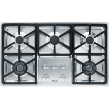 Miele KM3474LP - Gas cooktop with 2 dual wok burners for particularly versatile cooking convenience.